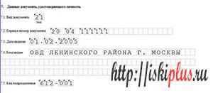 Код паспорта
