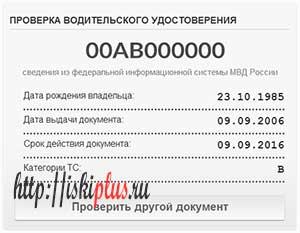 Проверить водительское удостоверение по базе ГИБДД онлайн